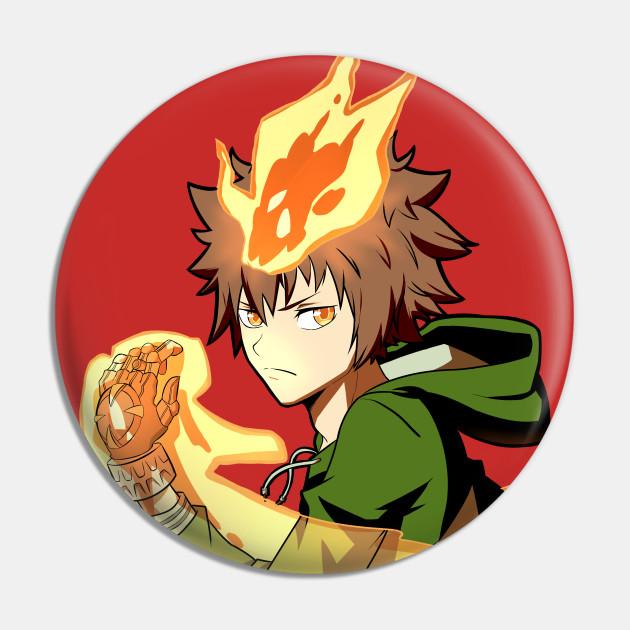 Tsunayoshi Sawada Katekyo Hitman Reborn Tsuna Pin Teepublic