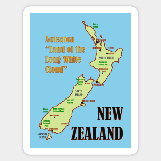 photo about New Zealand Map Printable known as Refreshing Zealand Map