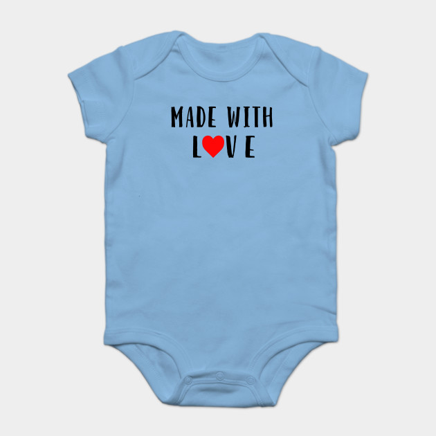 344f15bfb12 Made with Love Baby Onesie - Baby Shower - Onesie