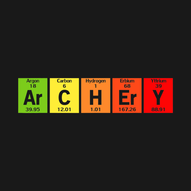 Science Ar C H Er Y Funny Archery Arrow Periodic Table Gift