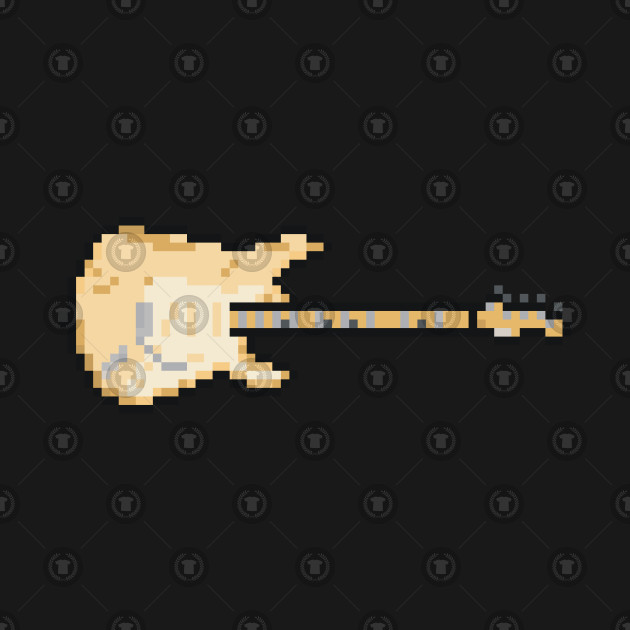 Pixel Worn Out Cream Blues Guitar