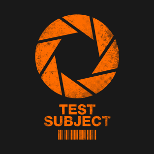 Aperture Science Test Subject -orange- t-shirts