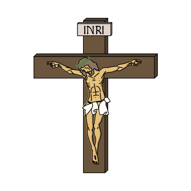 ce4a5dd8f Jesus on the Cross (INRI) - Jesus - T-Shirt | TeePublic