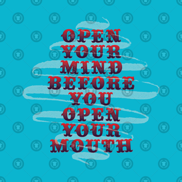 Open Your Mind Quote Tapestry Teepublic