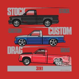3 in 1 1981-1993 S10 trucks t-shirts