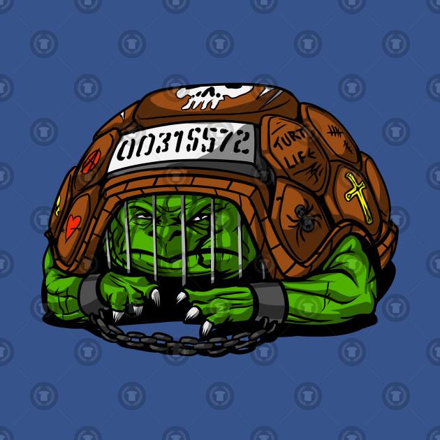 Funny Turtle Prisoner Cool Tortoise