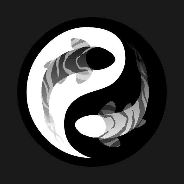 yin yang fish yin yang symbol t shirt teepublic. Black Bedroom Furniture Sets. Home Design Ideas