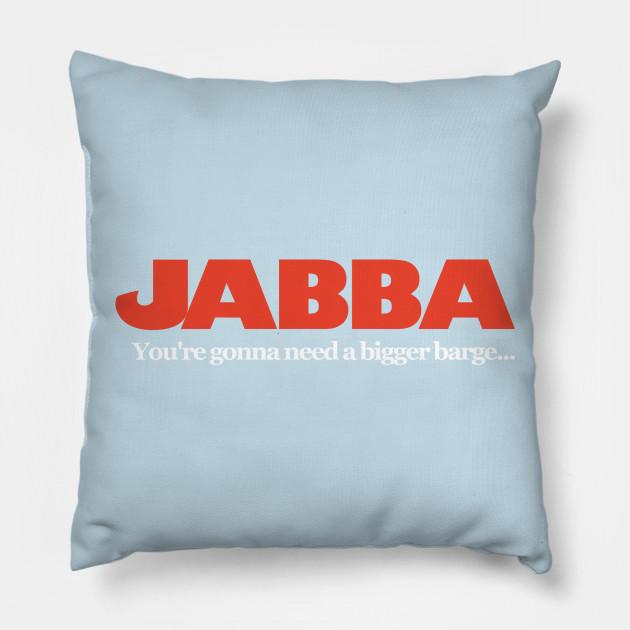 fd03d2df Jabba / Jaws Mash Up - Funny Star Wars - Pillow   TeePublic