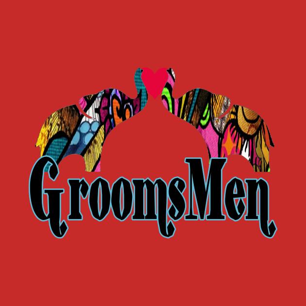 Groomsmen love elephants