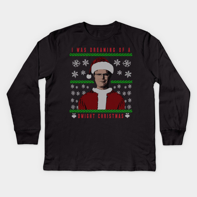 Dwight Schrute Christmas The Office Tv Show Kids Long Sleeve T