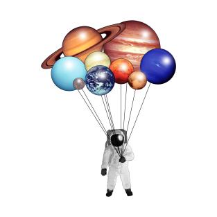 Planet Balloons t-shirts