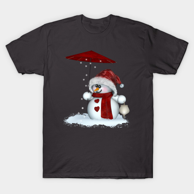 Little Snowman in red T-Shirt