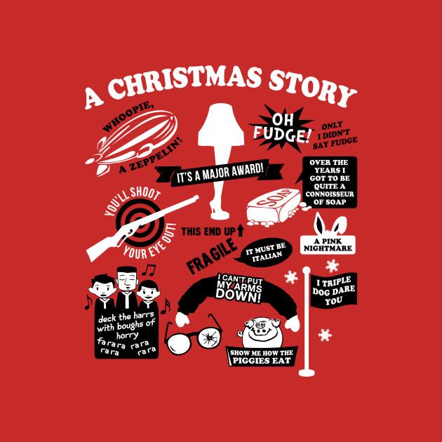 A Christmas Story Quotes Christmas Story Quotes   A Christmas Story Movie   T Shirt | TeePublic A Christmas Story Quotes