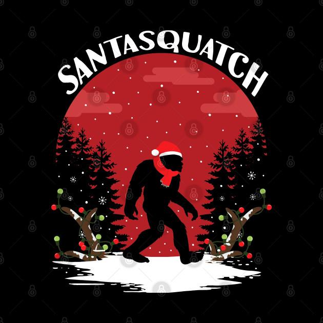 Santasquatch christmas ugly sweater