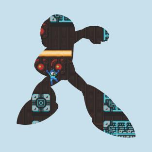 Mega Man - Background Cutout v.3 t-shirts