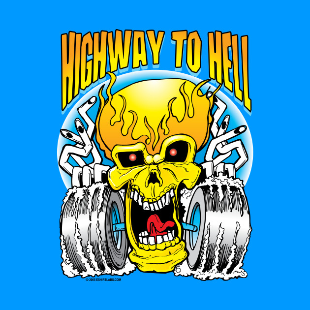 Highway to Hell Skull on Wheels