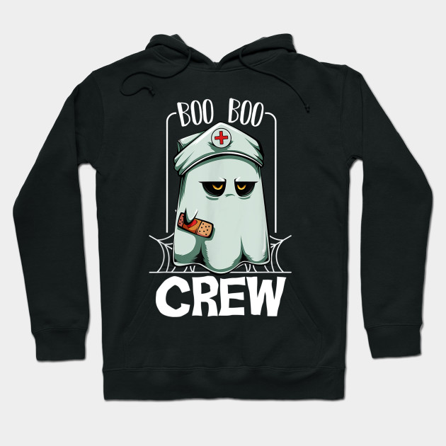 Boo Boo Crew Nurse Ghost Scary Halloween Quotes Funny T Shirt