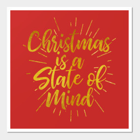 Christmas Is A State Of Mind   Merry Christmas   Winter Holiday Quote Home  Goods. Wall Art