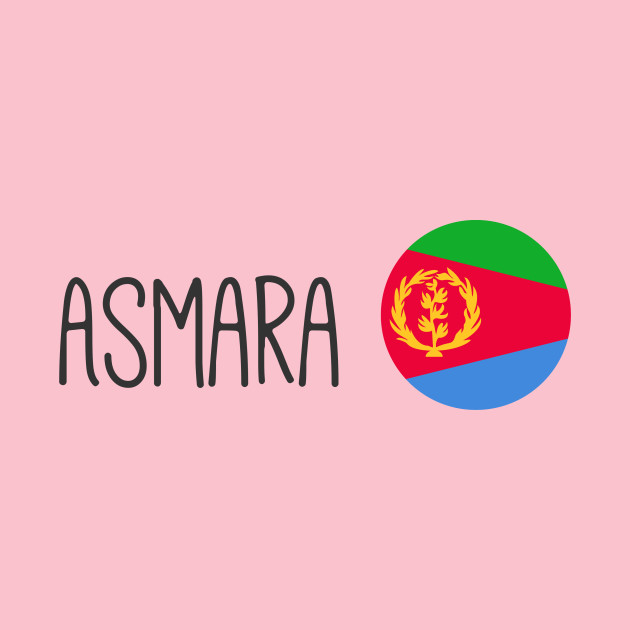 I Love Heart Asmara Pink Kids T-Shirt