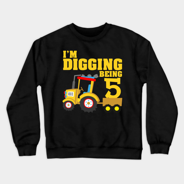 Birthday Toddler Long Sleeve T-shirt I Dig Being Five