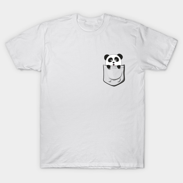 Pocket Panda Panda T Shirt Teepublic