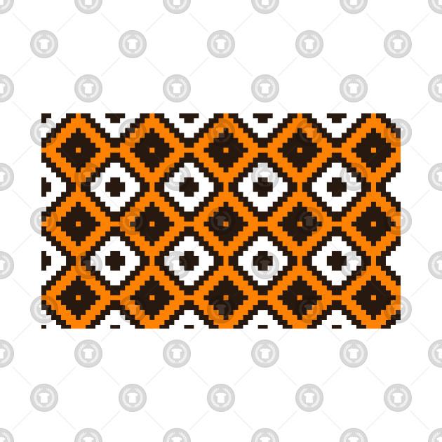 Orange Bamboo Pattern