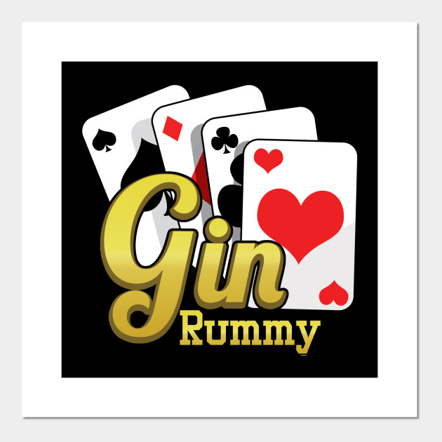 Gin Rummy Cards Two Player Card Game French Cards Rum And Gin Gift