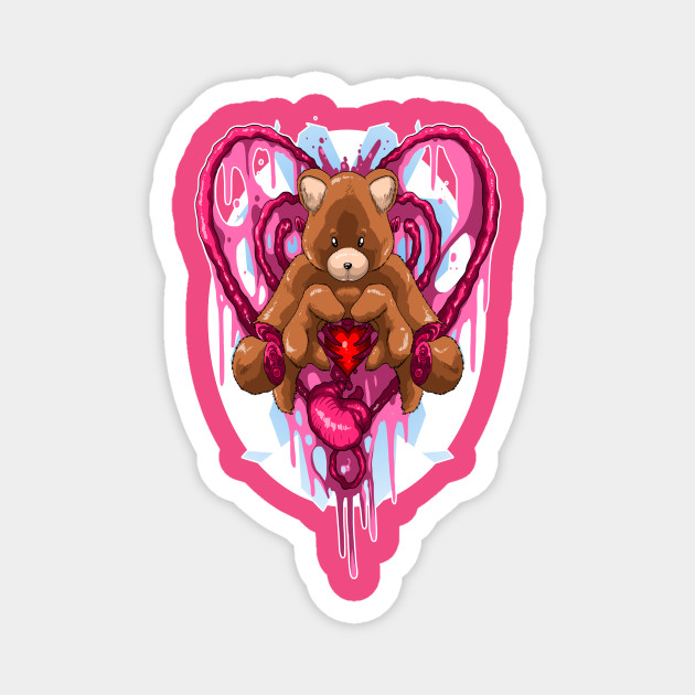 Teddy Bear Candy Gore Teddy Bear Magnet Teepublic Au My first furry oc really suits candy gore~ follow my tumblr for more: teepublic