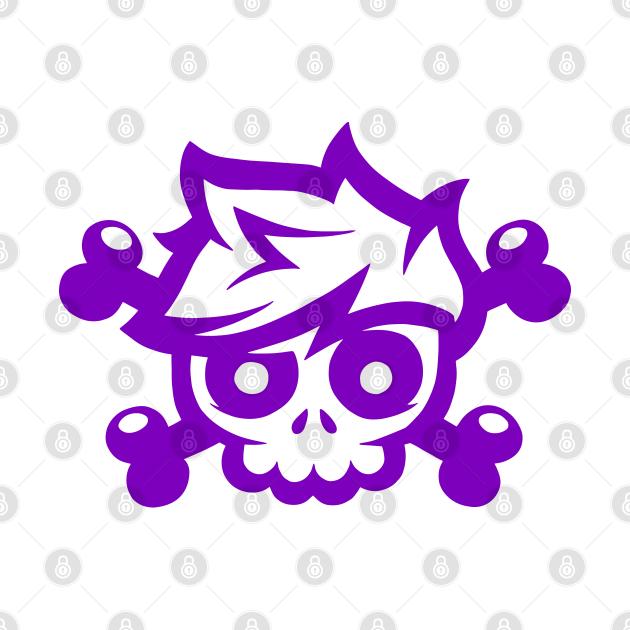 Purple Skull and Crossbones