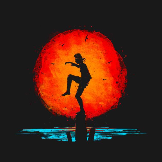 Karate Kid Minimal Tribute Painting T-Shirt