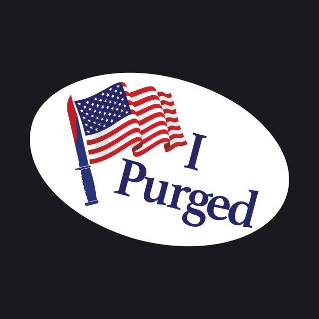 I Purged Pocket Sticker