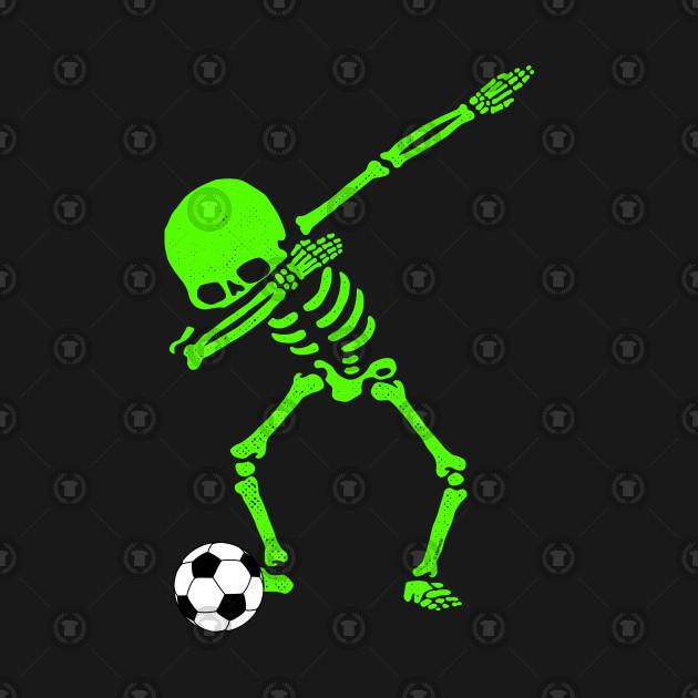 Halloween Dabbing Skeleton Soccer Ball T-Shirt Skeleton Dab
