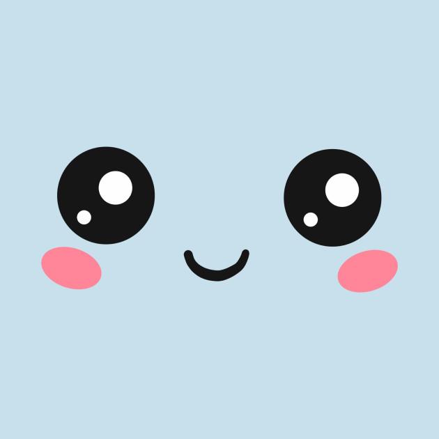 Cute kawaii face eyes funny emoticon emoji anime kawaii pillow teepublic - Emoticone kawaii ...