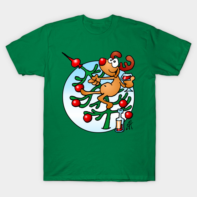Reindeer in a Christmas tree - Ugly Christmas Sweater - T-Shirt ...
