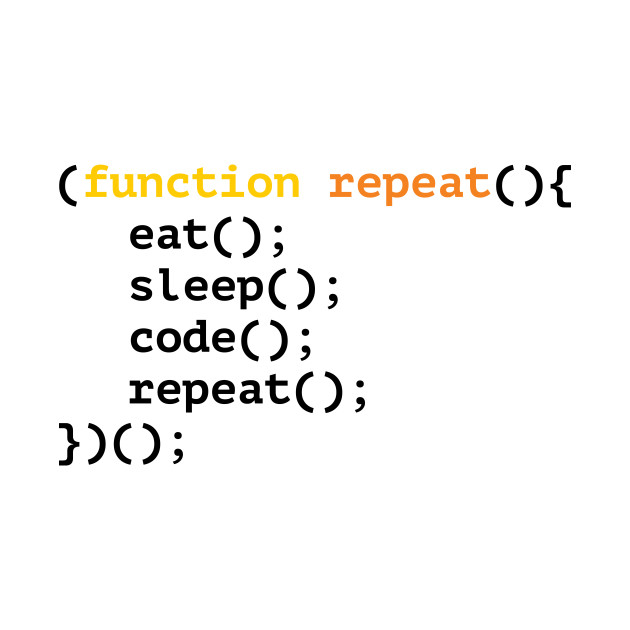 Function repeat, eat, sleep, code, repeat funny T-shirt