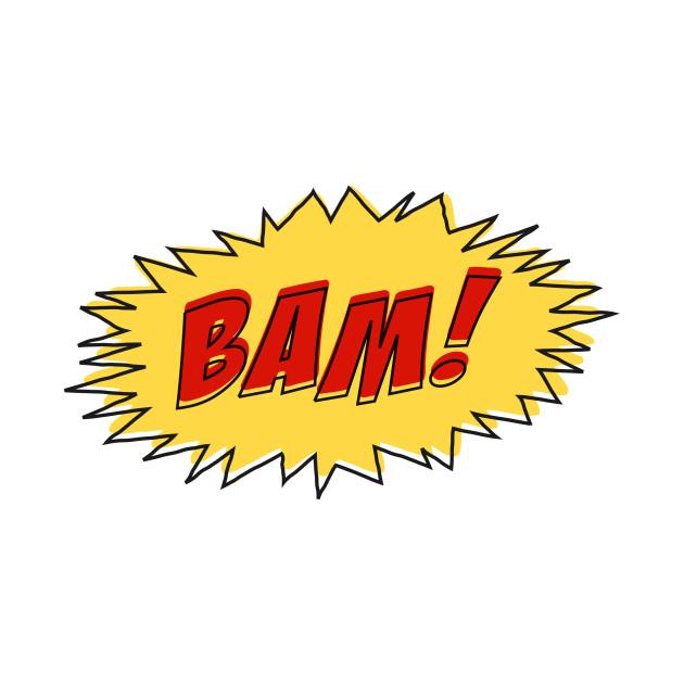 BAM Funny Vintage Retro Comic Book Tshirt