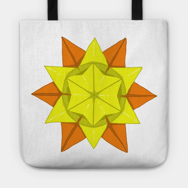 Origami Sun Sun Tote Teepublic