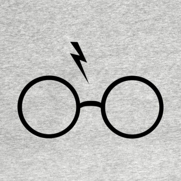 Harry Potter Glasses And Scar Harrypotter T Shirt Teepublic