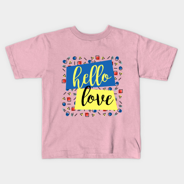 2264713c2 Hello Love - Love Graphic Pattern Repetition Colourful Blue Yellow ...