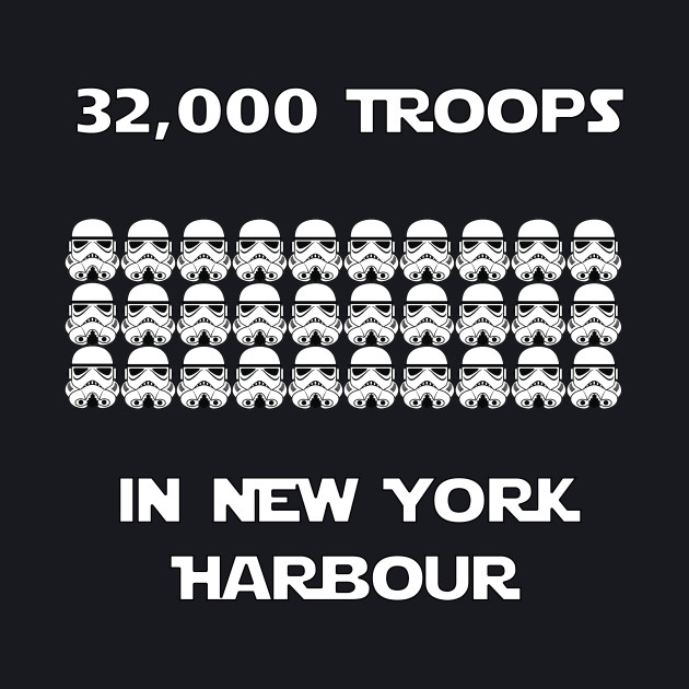 Troops in New York Harbour