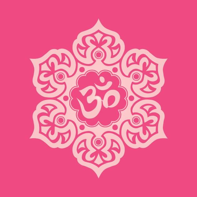 Pink lotus flower yoga om om t shirt teepublic 763179 1 mightylinksfo