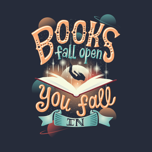 Books fall open you fall in