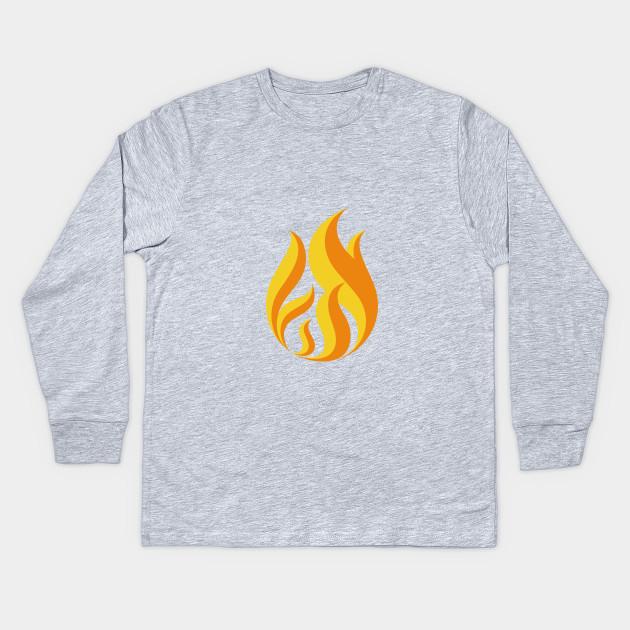 298fb2fc1 On Fire shirt Fire flame - Flame - Kids Long Sleeve T-Shirt | TeePublic