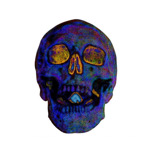 Deep Blue Death Skull