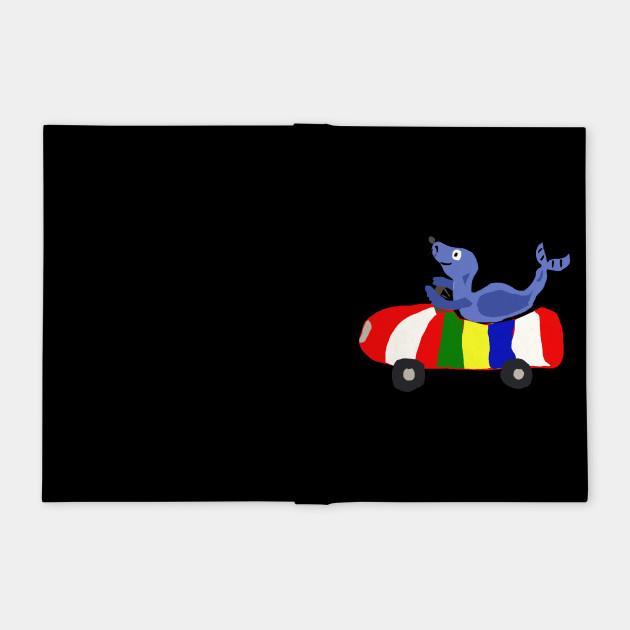 Funny Seal Driving Beach Ball Car
