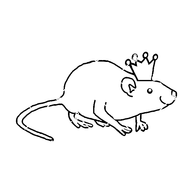 Rat Wearing A Crown Rat Sticker Teepublic Choose from 700+ cartoon crown graphic resources and download in the form of png, eps, ai or psd. rat wearing a crown