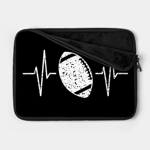 Distressed Football Heartbeat Football Player Gift