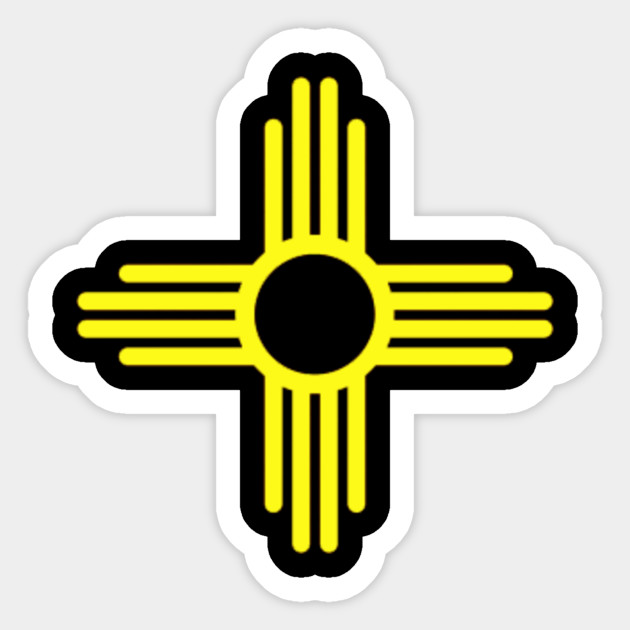 New Mexico Zia Symbol T Shirt Newmexicoziasymbol Sticker Teepublic