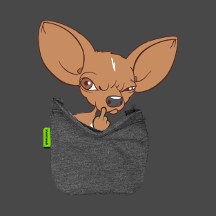 Chihuahua FU Pocket t-shirts