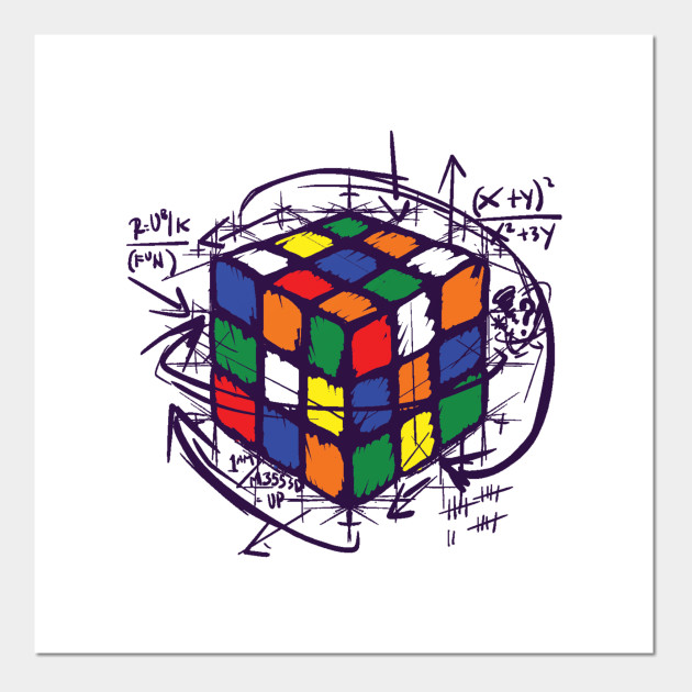 Rubiks Cube Instructions T Shirt Rubiks Cube Posters And Art